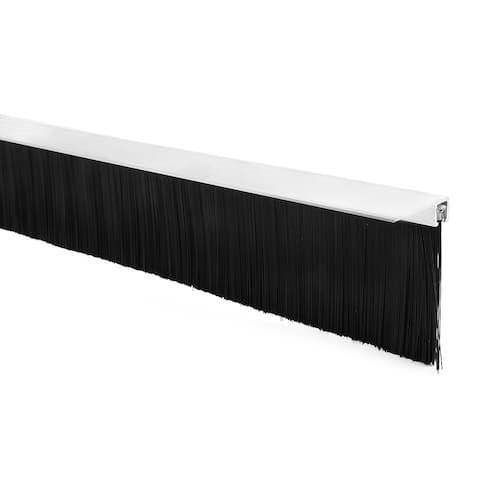 40-inch Length 2-inch Height Nylon Brush Insert Door Bottom Sweep w F-Shape Base