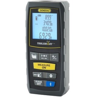 General TS01 ToolSmart Laser Distance Measurer, LCD Display
