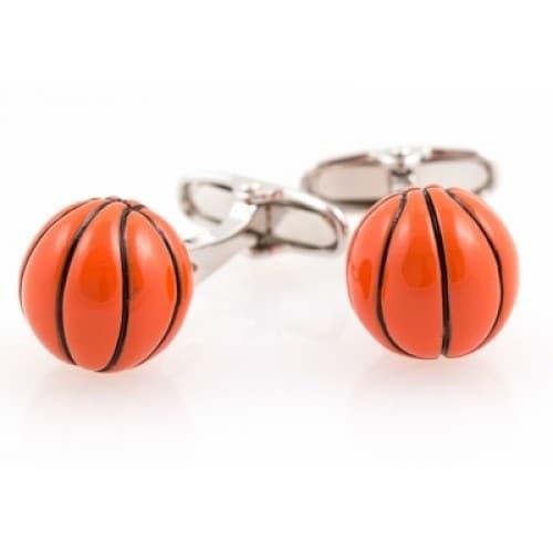 Orange Basketball 3D Sports Cufflinks