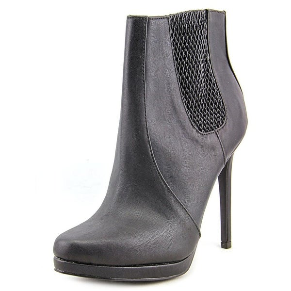 Mia Tanya Women Round Toe Synthetic Black Ankle Boot