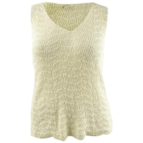 Vince Camuto Women's Wave-Stitched Cardigan (XL, Natural Sand) - XL