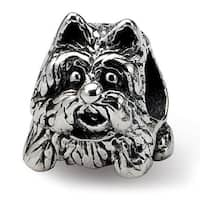 Sterling Silver Reflections Scottish Terrier Dog Bead (4mm Diameter Hole)