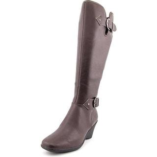 Aerosoles Wonderful Women W Round Toe Synthetic Brown Knee High Boot