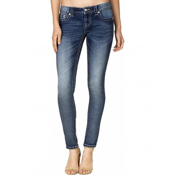 Miss Me Denim Jeans Womens Sequin Honey Comb Skinny Med JP7738S
