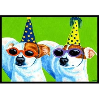 Carolines Treasures AMB1441JMAT Party Animals Jack Russell Terriers Indoor or Outdoor Mat 24 x 36
