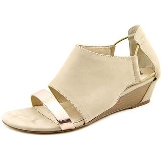 Matisse Port Women Open Toe Leather Nude Wedge Sandal