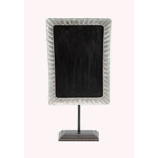 Rustic Galvanized Metal Framed Tabletop Chalkboard On Stand - 23.5 X 12 X 4.5 inches