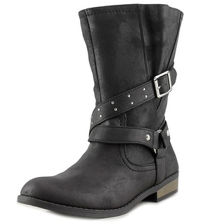 Jessica Simpson Callie Women Round Toe Synthetic Black Mid Calf Boot