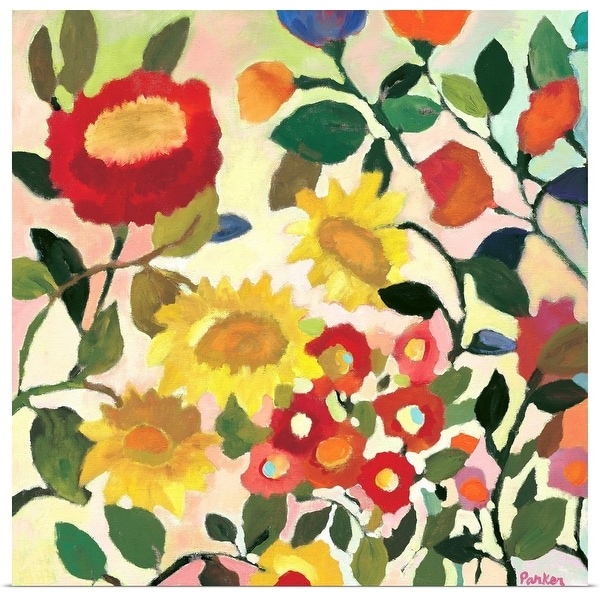 """Three Sunflowers"" Poster Print"