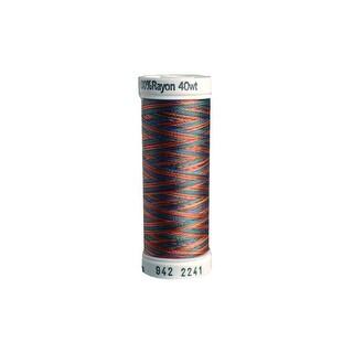 942 2241 Sulky Rayon Thread 40wt 250yd Peach Blue Rust Grn