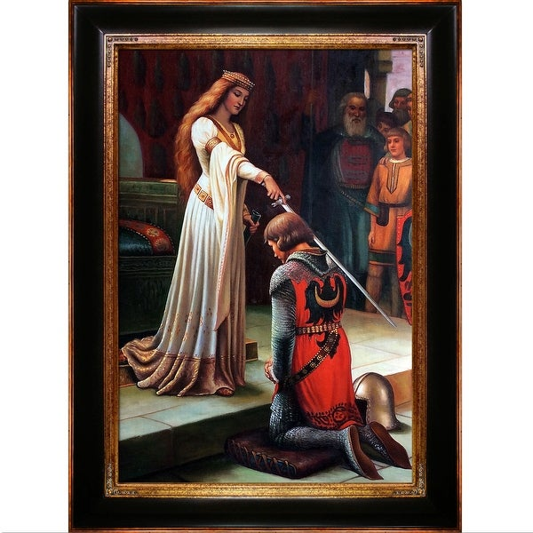 Edmund Leighton 'The Accolade, 1901' Hand Painted Oil Reproduction