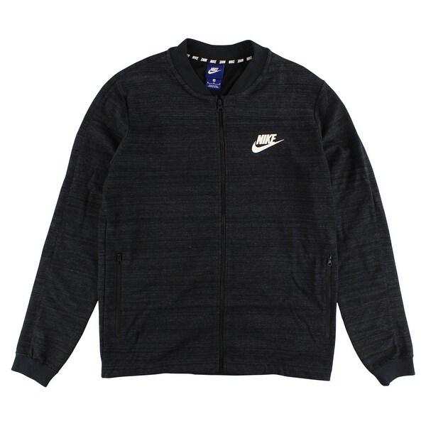 Shop Nike Mens Sportswear AV15 Knit Jacket Black - BLACK WHITE - Free  Shipping Today - Overstock - 22544947 49fdbbb71