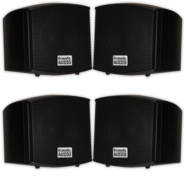 Acoustic Audio AA321B Indoor Mount Black Speakers 800W 2 Pair Pack AA321B-2Pr