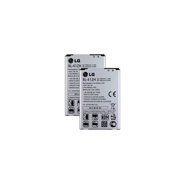 Replacement Battery For LG H345 Mobile Phones - BL-41ZH (1820mAh, 3.8V, Li-Ion) - 2 Pack. Opens flyout.