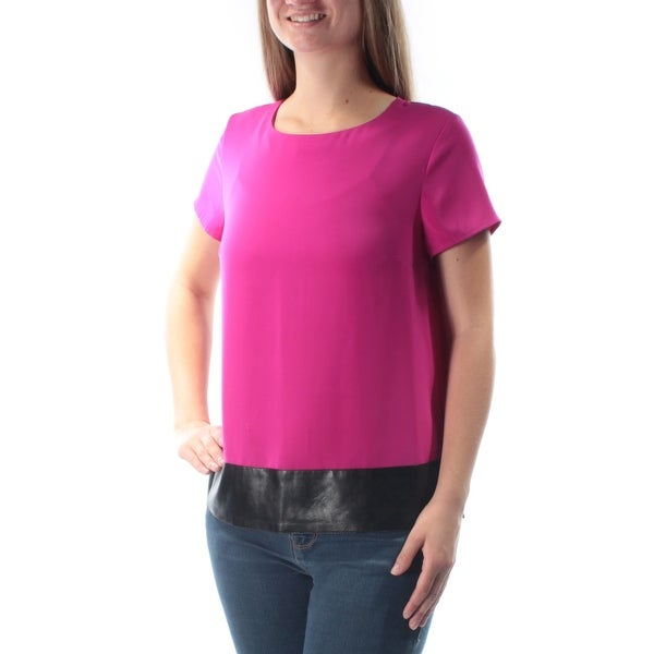 24192c00a42 Shop JONES NY Womens Purple Cap Sleeve Jewel Neck Wear To Work Top Size  8  - On Sale - Free Shipping On Orders Over  45 - Overstock - 21310203