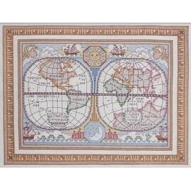 Bucilla World Map Stamped Cross Stitch Kit