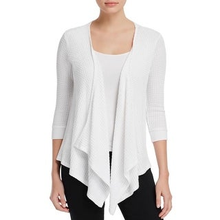 Velvet Womens Cardigan Top Thermal Knit - l