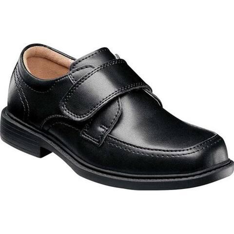 Florsheim Boys' Berwyn Jr. II Moc Toe Shoe Black Leather