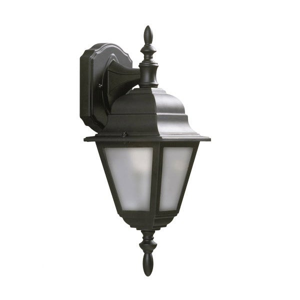 Galaxy Lighting Outdoor Wall Sconce with Frosted Beveled Glass, Black