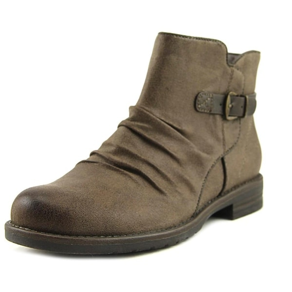 New Directions Lydia Women Round Toe Suede Gray Over the Knee Boot