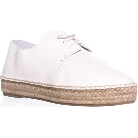 VINCE Cynthia2 Flat Espadrille Oxfords, Cream