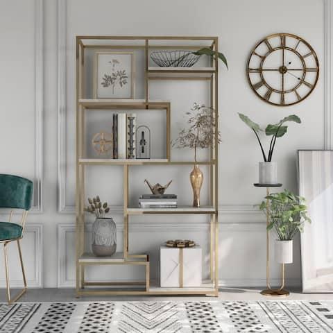 Furniture of America Kinnego Contemporary Metal Display Shelf