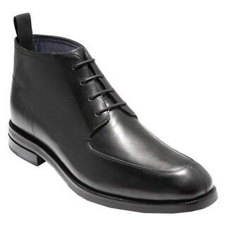 Shop Cole Haan Men S Wagner Grand Apron Chukka Boot Black