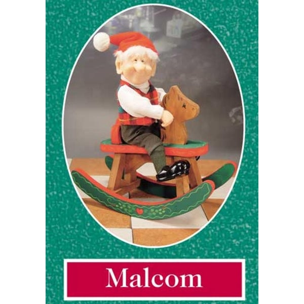 "15"" Zims The Elves Themselves Malcolm and Horse Collectible Christmas Elf Figure"