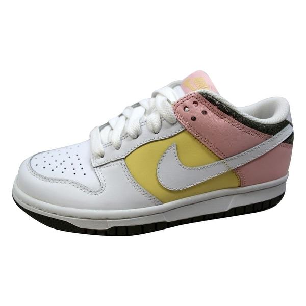 Nike Women's Dunk Low White/White-Lemon-Light Coral 317813-112