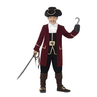 Smiffy Deluxe Pirate Captain Child Costume - Red
