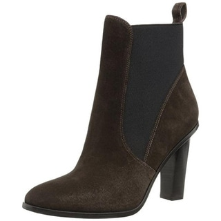 Via Spiga Womens Maila Suede Stacked Heel Ankle Boots - 11 medium (b,m)