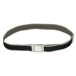 CTM® Kids' Easy Clasp Two Tone Adjustable Stretch Belt - One Size
