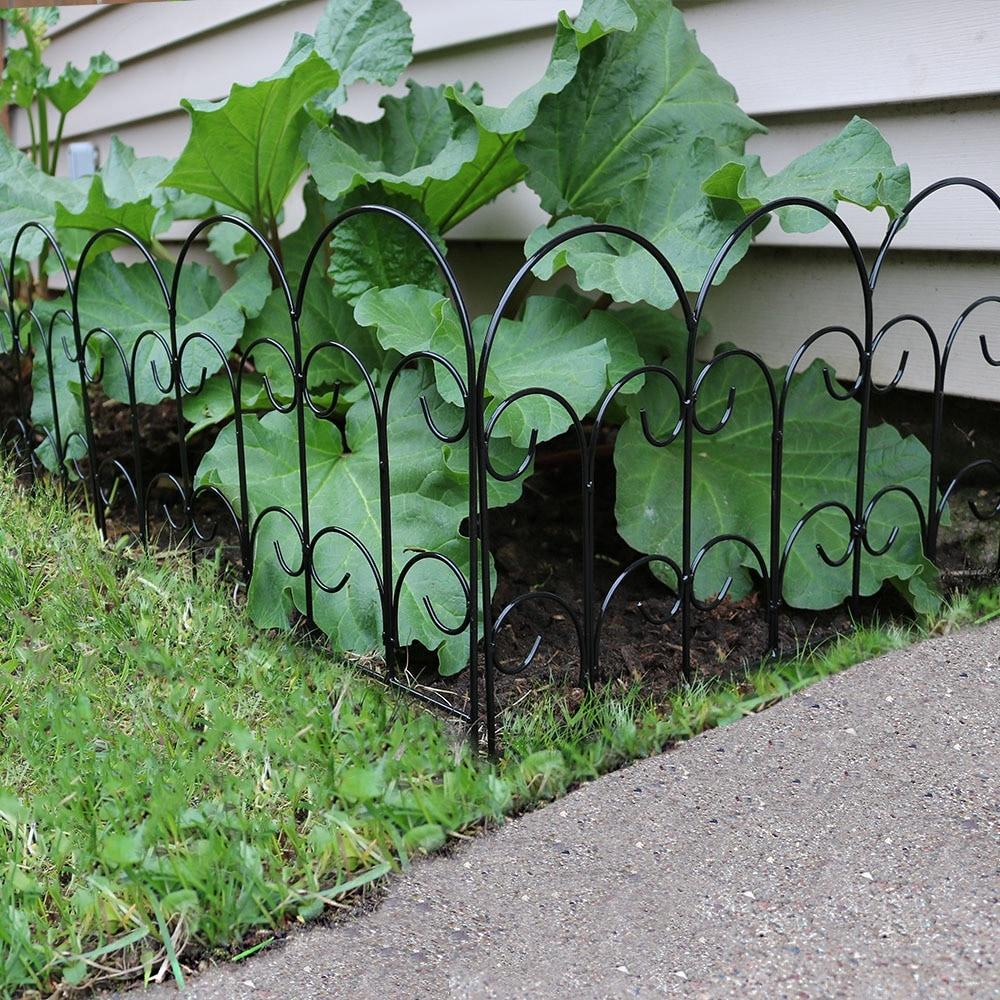 Decorative Metal Garden Fencing 7 5 Feet Overall Sunnydaze 5 Piece Victorian Border Fence Set 16 Inches X 18 Inches Wide Each Piece Garden Edging