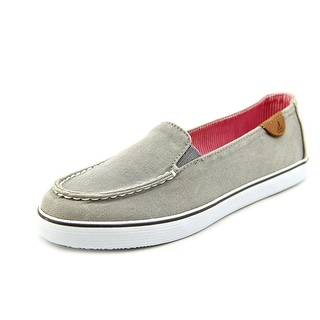 Sperry Top Sider Zuma Women Moc Toe Canvas Gray Loafer