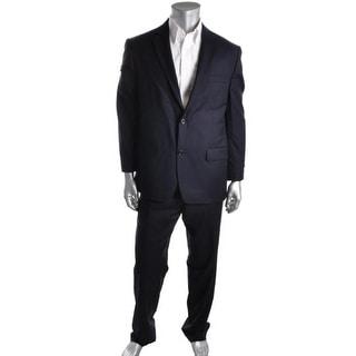 MICHAEL Michael Kors Mens Wool Notch Collar Two-Button Suit - 42R