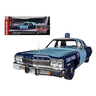 1974 Dodge Monaco Pursuit Massachusetts State Police 1 18 Limited to 2000pc by Autoworld