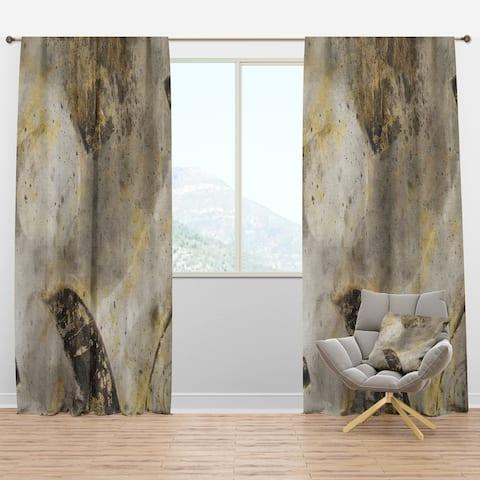 Designart 'Glam Gold Desert Neutral I' Modern Blackout Curtain Panel