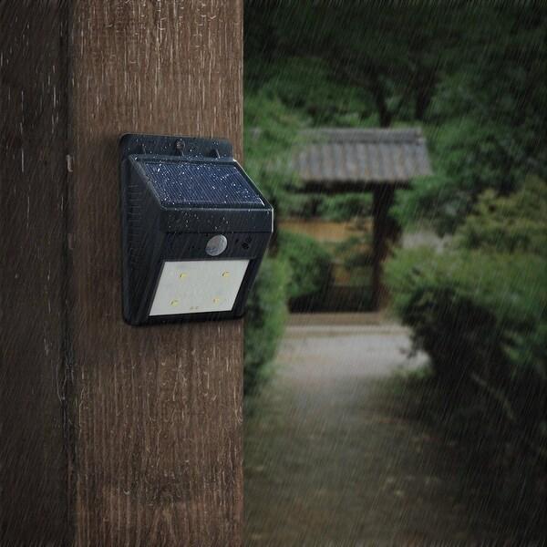 Delightful AGPtEK Solar Lights 4 LED Wireless Waterproof Motion Sensor Outdoor Light  For Patio, Deck,