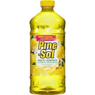 Pine-Sol CLO40239CT Multi-Surface Lemon Cleaner - Yellow