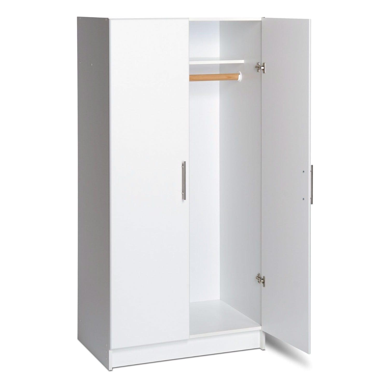 Door Wardrobe Cabinet With Hanging Rail