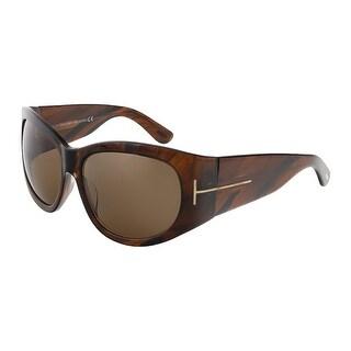 Tom Ford FT0404/S 48B Felicity Tortoise Rectangle Sunglasses - 61-15-125
