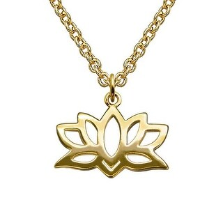 "Julieta Jewelry Lotus Gold Charm 16"" Necklace"