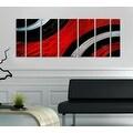 Statements2000 Red / Black Modern Metal Wall Art Painting by Jon Allen - Critical Mass - Thumbnail 1