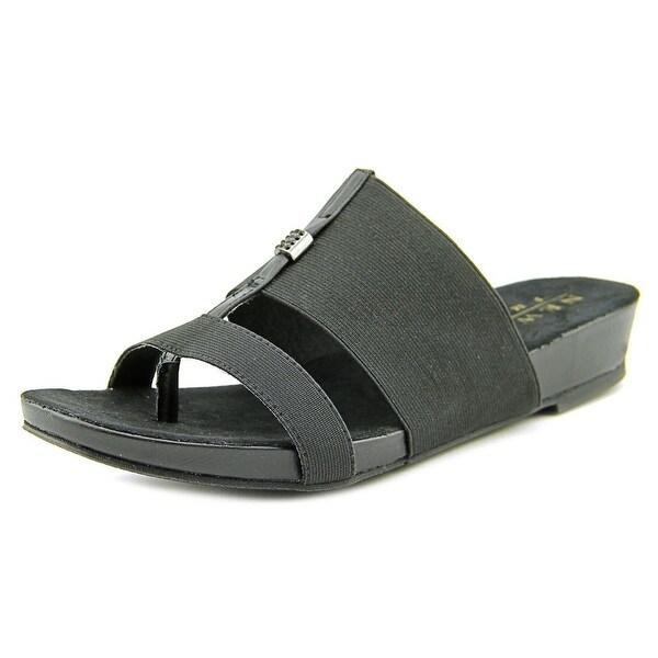 New York Transit Easy One Women Open Toe Synthetic Black Slides Sandal