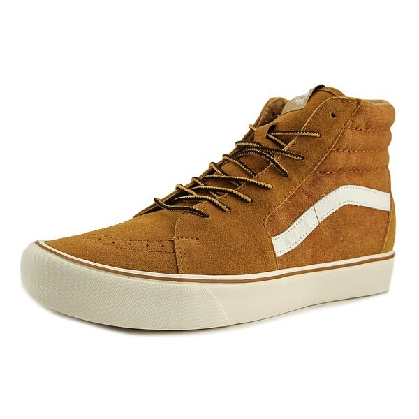 60317825ba Shop Vans SK8-Hi Lite Men Round Toe Canvas Brown Skate Shoe - Free ...