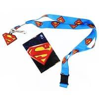 Superman Lanyard with Logo Charm - Multi
