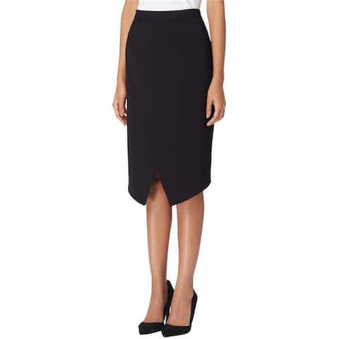Tahari Womens Faux Wrap Pencil Skirt