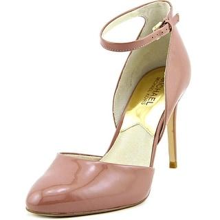 Michael Michael Kors Georgia Ankle Strap Women Patent Leather Pink Heels