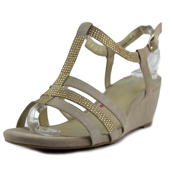 Ros Hommerson Whitney Women N/S Open Toe Suede Tan Wedge Sandal