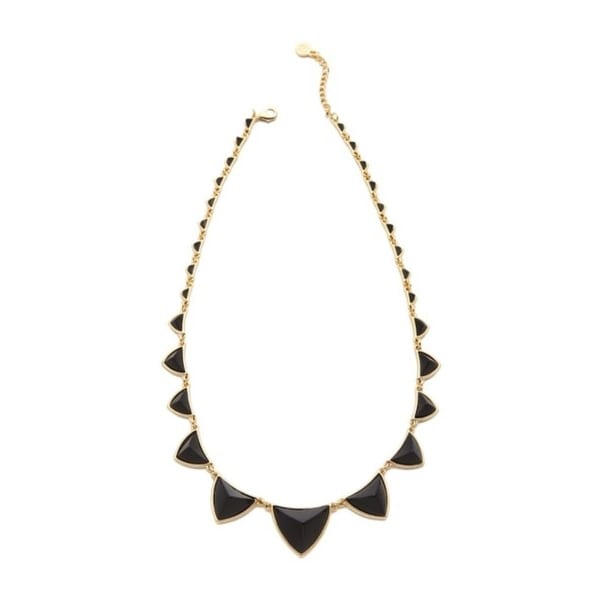 House Of Harlow 1960 Womens Necklace Gold Plated Pyramid Station - Black/gold